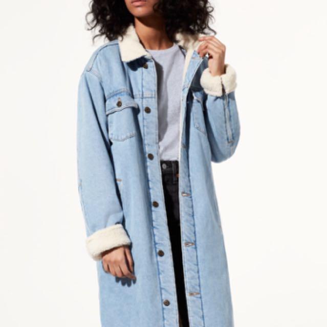 Aritzia tna denim Sherpa jacket