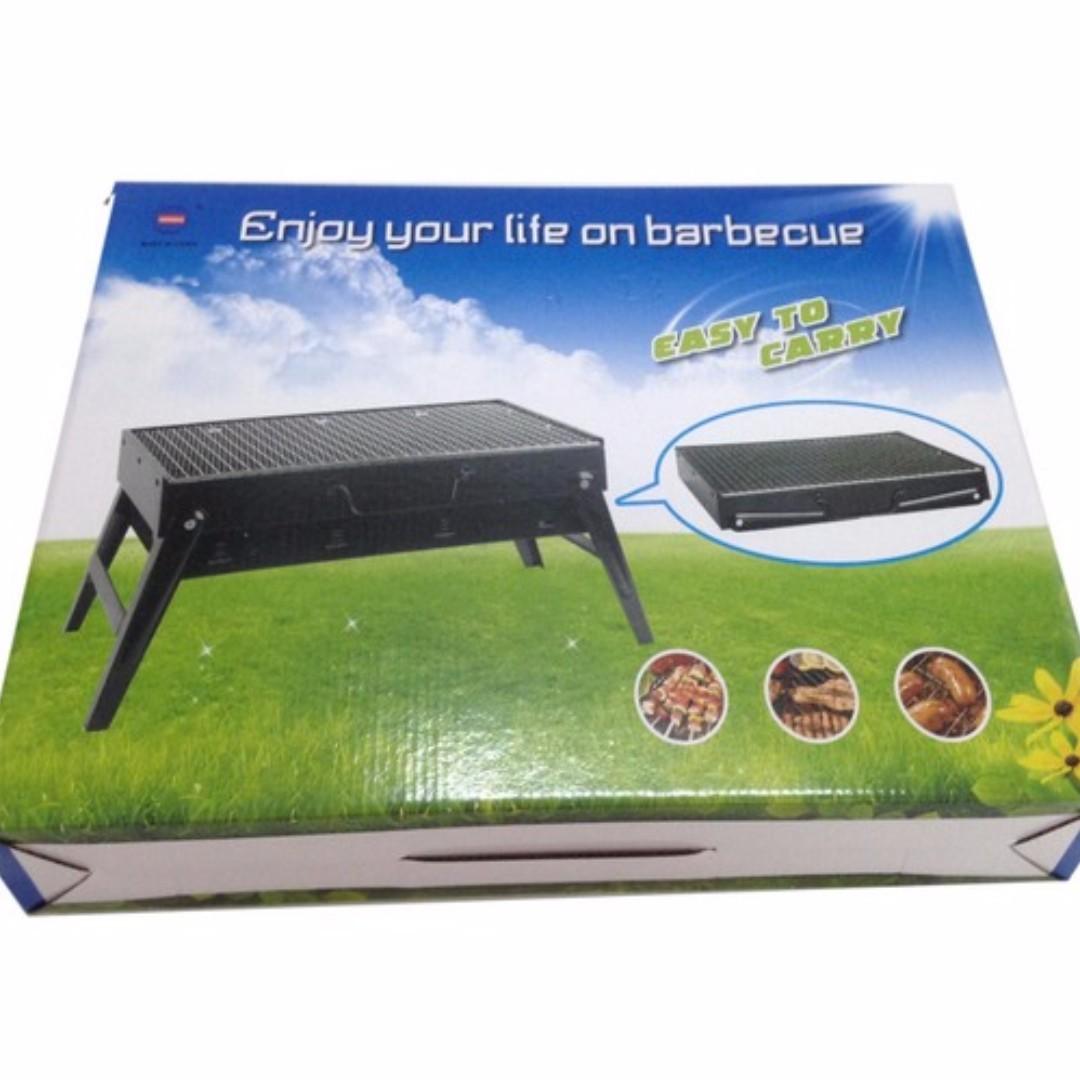 BBQ Grill Easy To Carry Foldable Portable Stainless Steel Pemanggang Bakar Arang Dapur Api