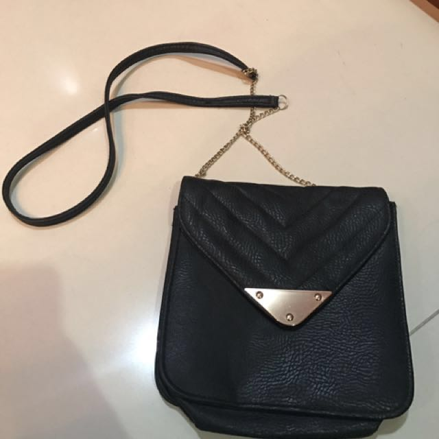 Black sling bag new look