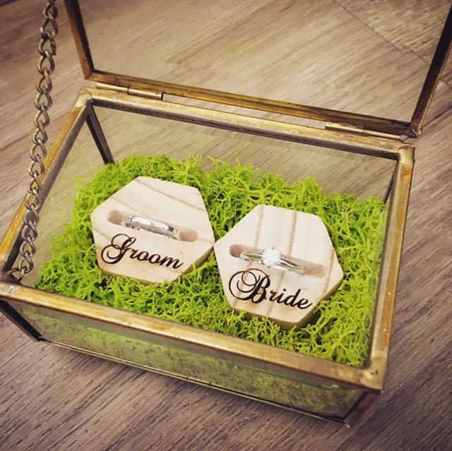 Customised Gl Box Wedding Ring Holder Design Craft Others On