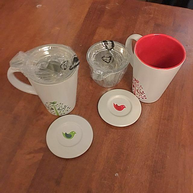 David's Tea mugs (2 Pieces)