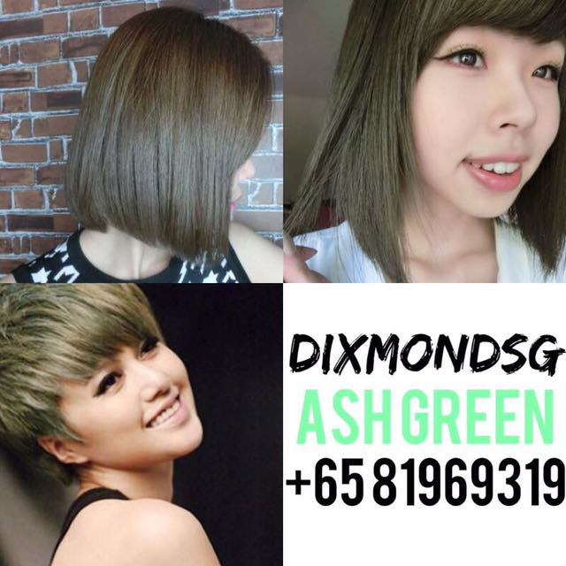 Dixmondsg Ash Green Hair Dye Health Beauty Hair Care On Carousell