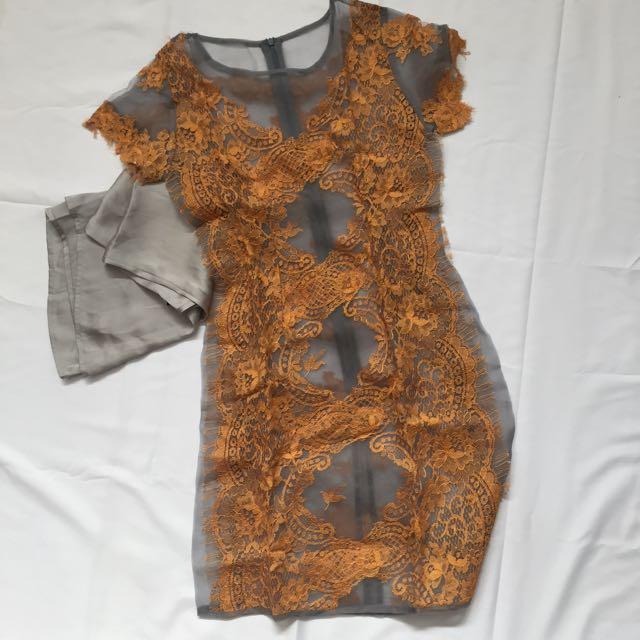 Dress organza burkat