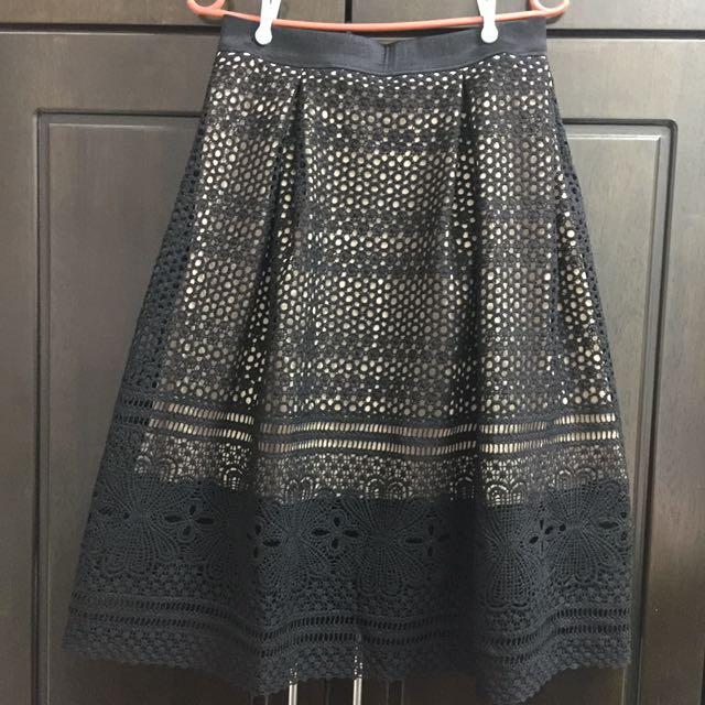 Elegant Crochet/ Knitted Skirt