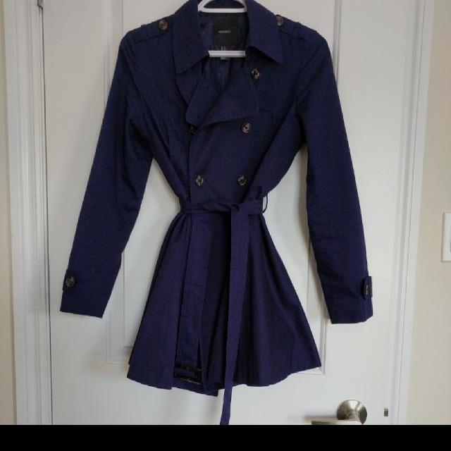 Fit & Flare Navy Coat