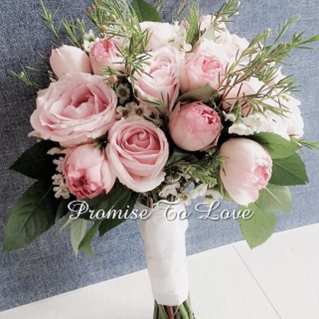 Fresh Roses & Mix Flowers Bridal Bouquet (Wedding / ROM/ Engagement ...