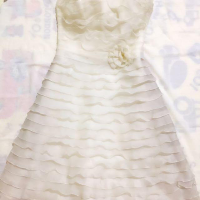 Gaun putih pendek