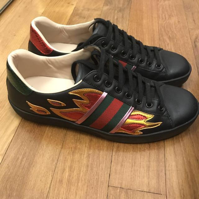 Gucci Ace with Flame, Men's Fashion