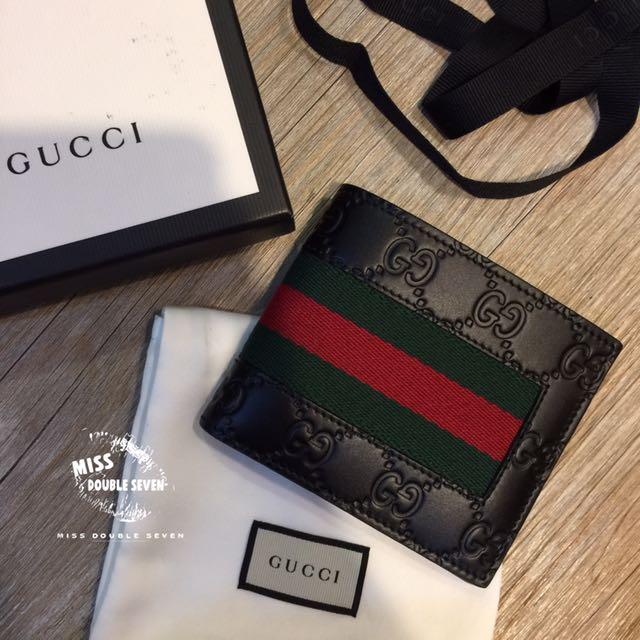 Gucci 大G logo經典真皮短夾 男夾 正櫃款 現貨在台