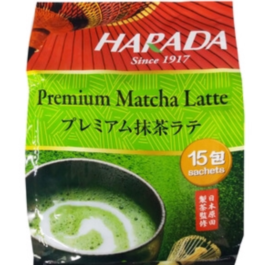 Harada Premium Matcha Latte, Food & Drinks On Carousell