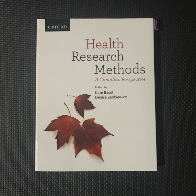 Health Research Methods: A Canadian Perspective