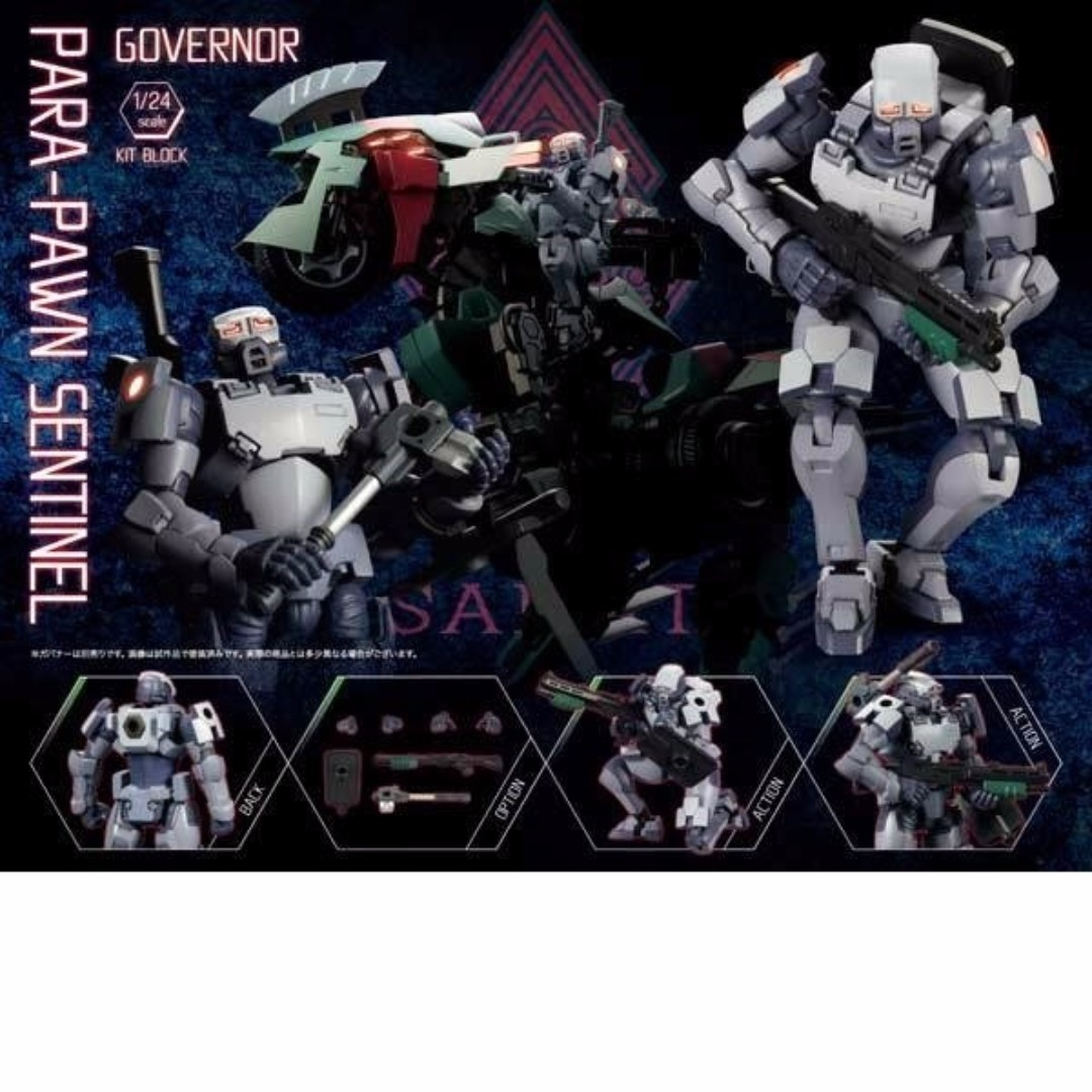 Image result for Hexa Gear Governor Para-Pawn Sentinel (Ver. 1.5) 1/24 Scale Model Kit