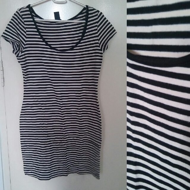 H&M Long Striped Blouse