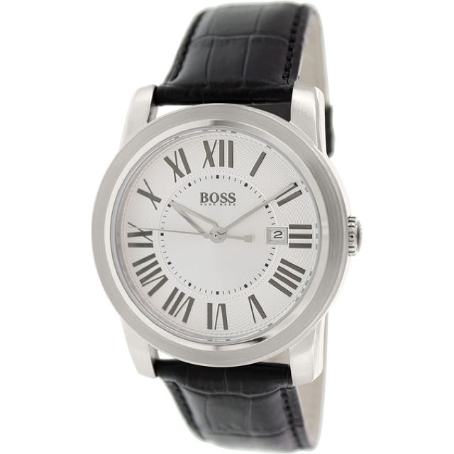 Hugo Boss Men's Black Leather Watch