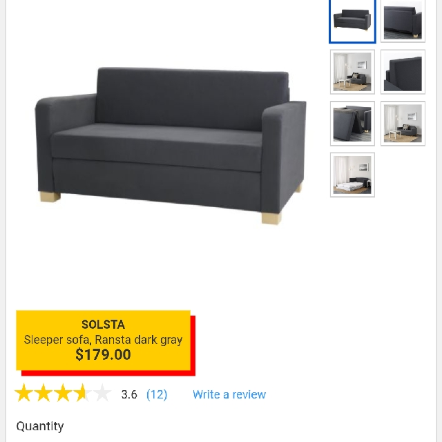 Ikea Solsta Sofa Bed Sleeper, Home U0026 Furniture, Furniture, Mattresses U0026 Bed  Frames On Carousell