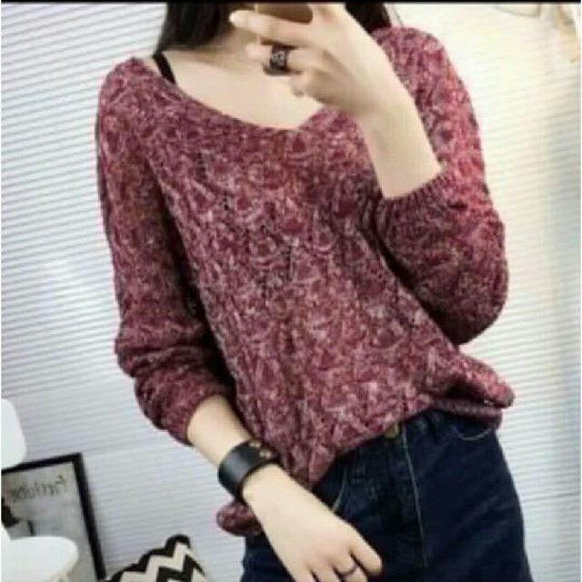 Knit Long Sleeve Blouses