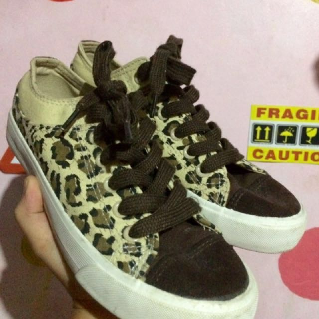 Leopard Converse Inspired Shoes