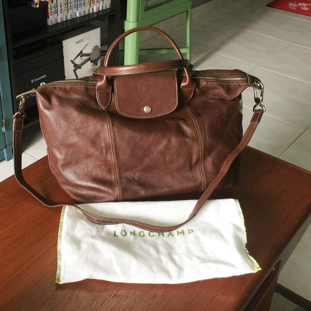 Longchamp  le Pliage Cuir  Leather Handbag In Dark Brown Colour, Women s  Fashion, Bags   Wallets on Carousell 6a3d4a4332