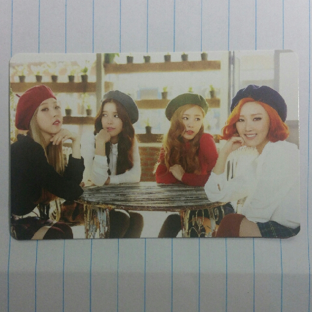 Mamamoo Melting Group Photocard