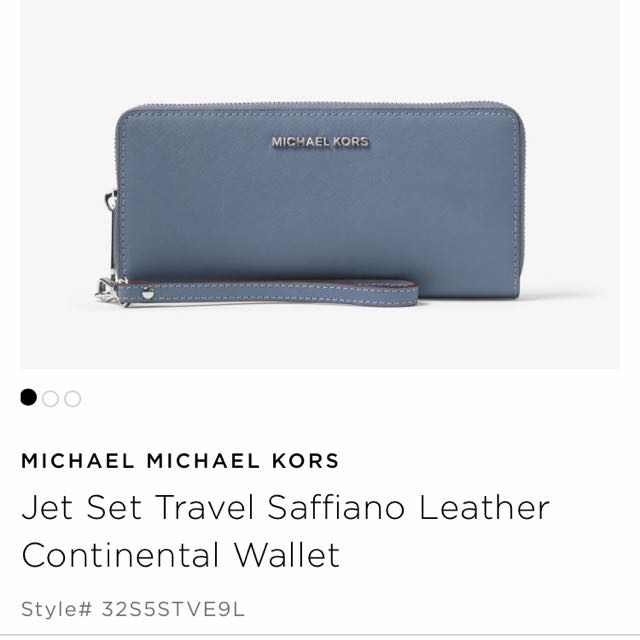 e413933fcef9 MICHAEL MICHAEL KORS Jet Set Travel Saffiano Leather Continental ...
