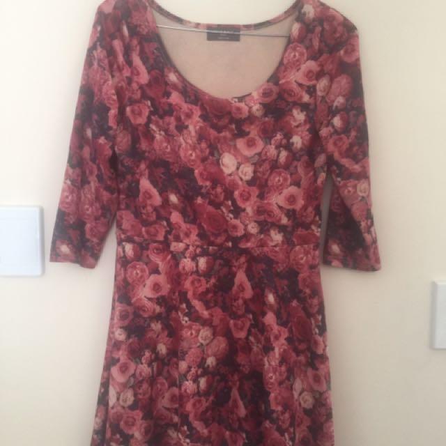 Mid Sleeve Velour Dress S10-12