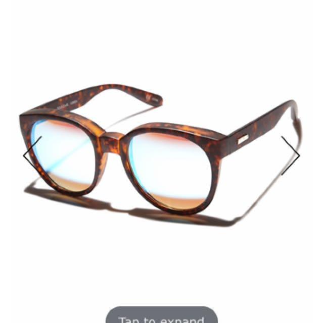 Mink Pink Reflective Tortoise Sunglasses