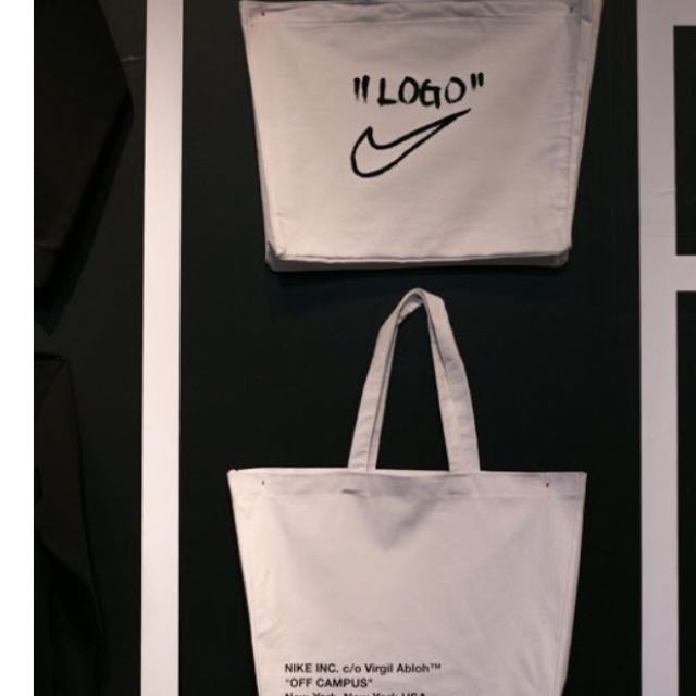 excepcional gama de colores ahorre hasta 80% tecnicas modernas Nike X offwhite tote bag, Men's Fashion, Accessories on Carousell