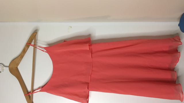Peach sheer dress