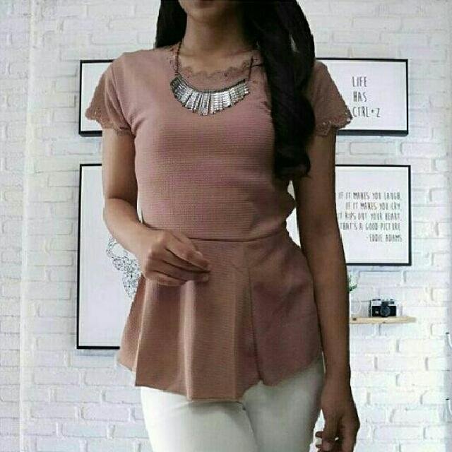 peplum top blouse
