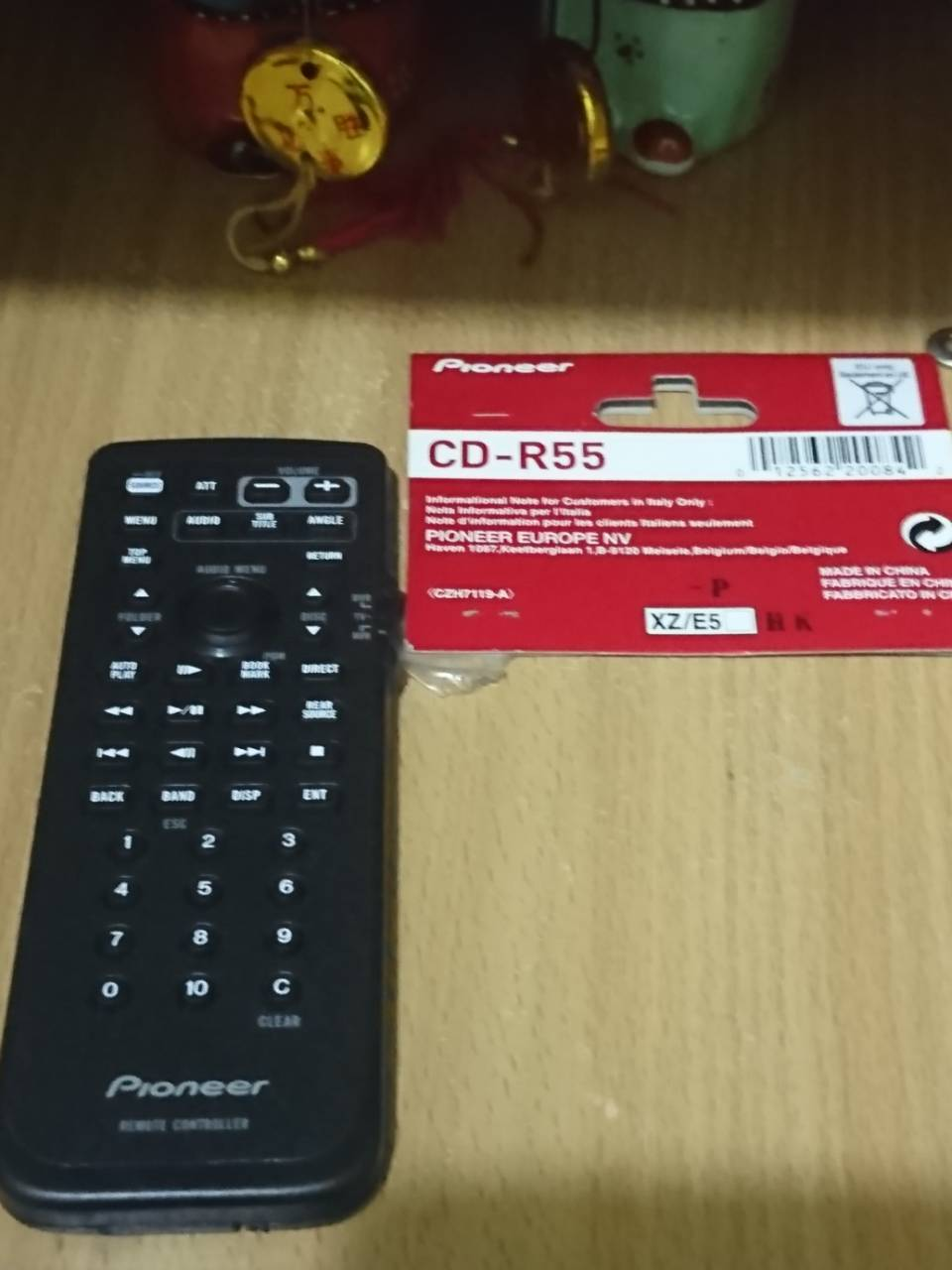 Pioneer CDR55 Remote Control with DVD/Audio Controls