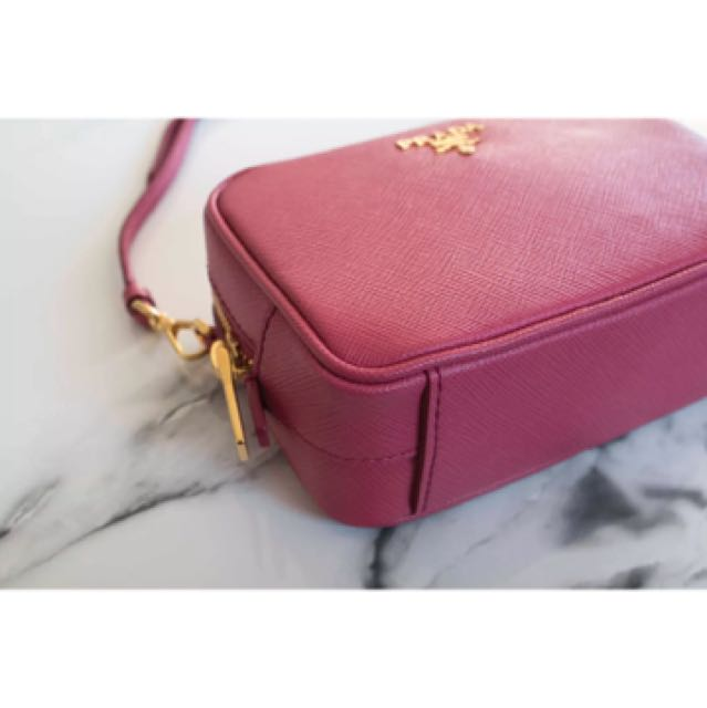 46c36e72df Prada saffiano crossbody mini camera bag pink peonia