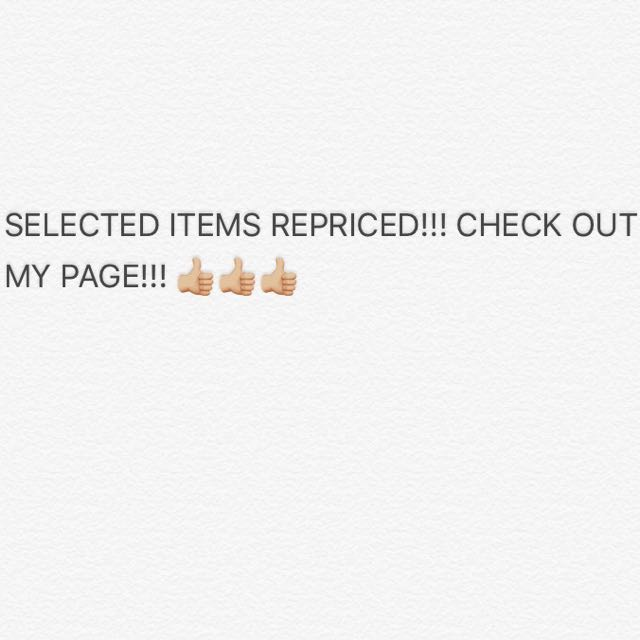 REPRICED / SALE ITEMS