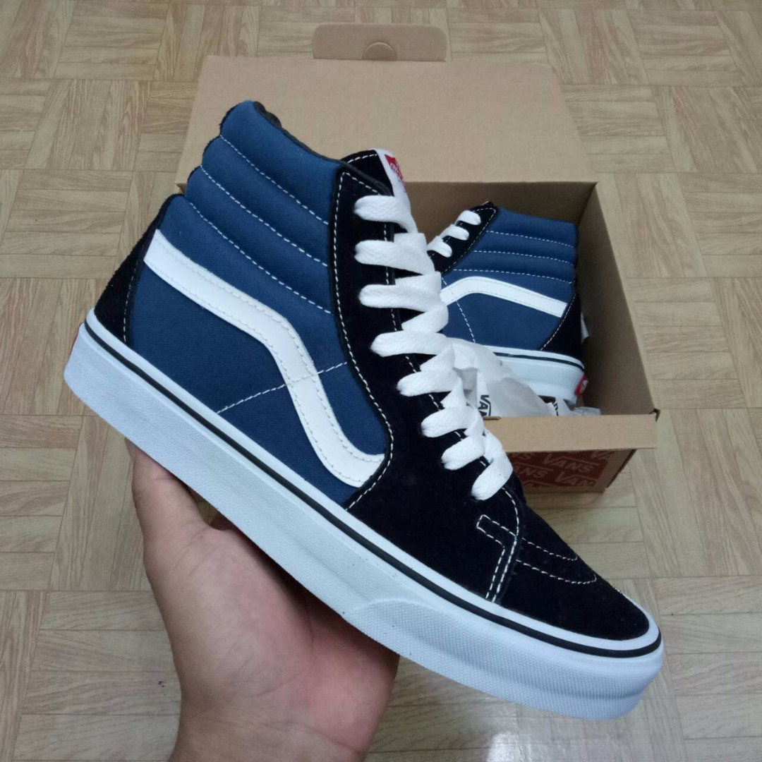 SEPATU VANS SK8 CLASSIC NAVY BLUE PREMIUM WAFFLE DT BNIB (Brand New In Box)  FULL TAG BARCODE MADE IN CHINA 918928315e