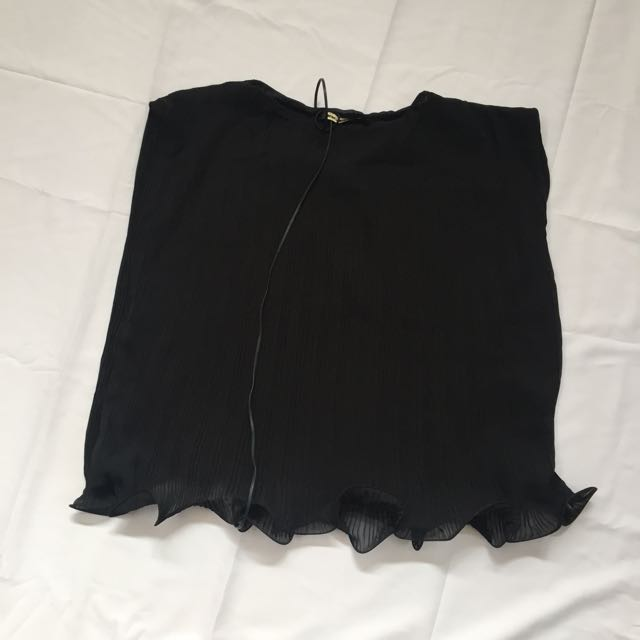 Shopatvelvet black oleated top