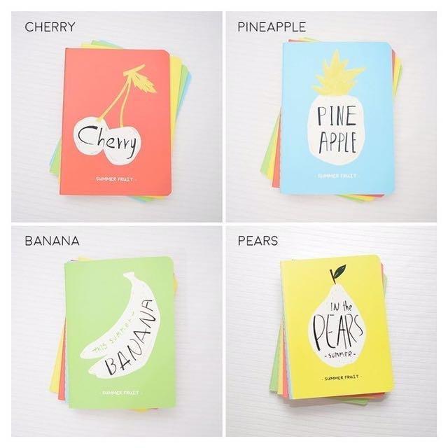 Summer Fruit Ruled Pocket Notes