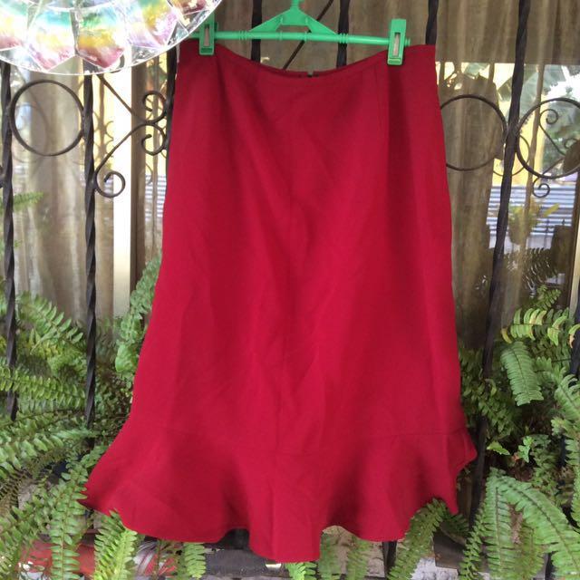 Tahari Maroon Skirt