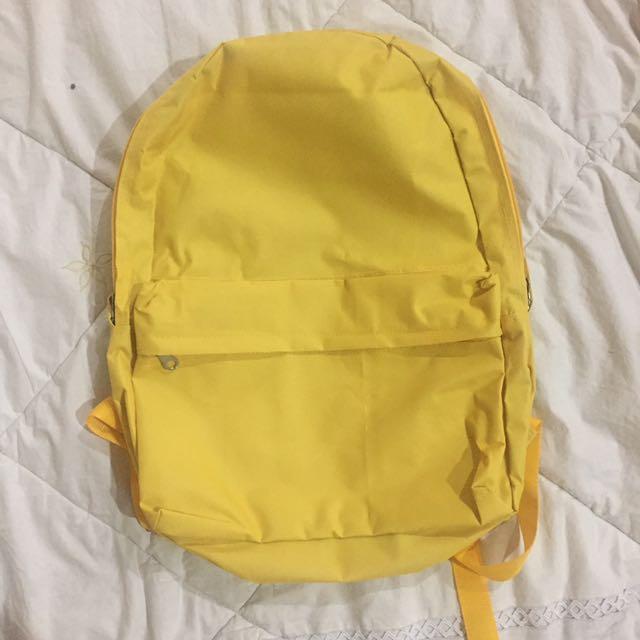 tas sekolah polos warna kuning