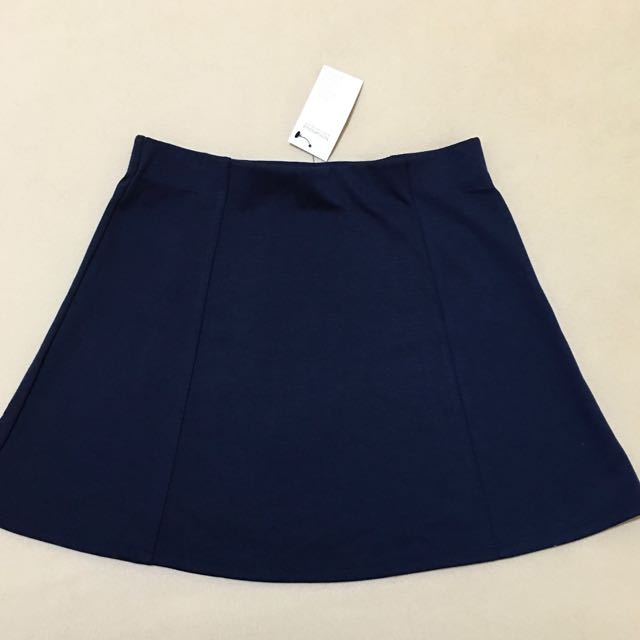 Terranova Navy Blue A-line skirt