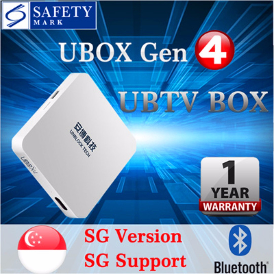 Ubox Gen4 UNBLOCK Tech TV BOX ,Instock Now!!, Electronics