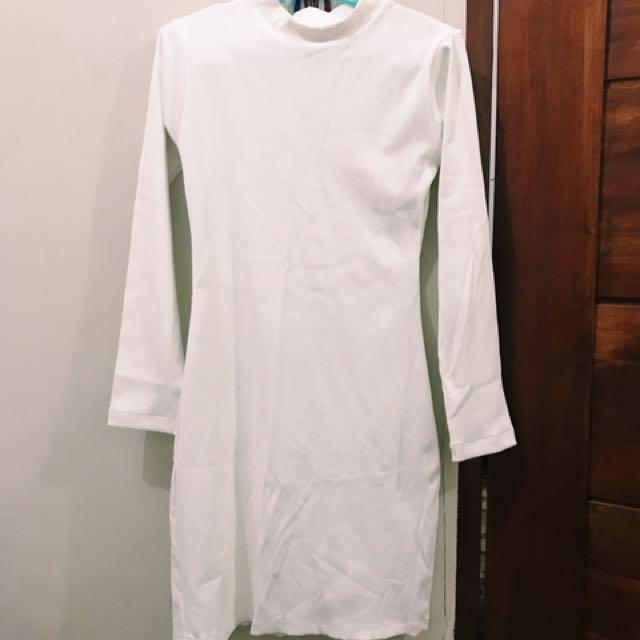White Neoprenish Dress