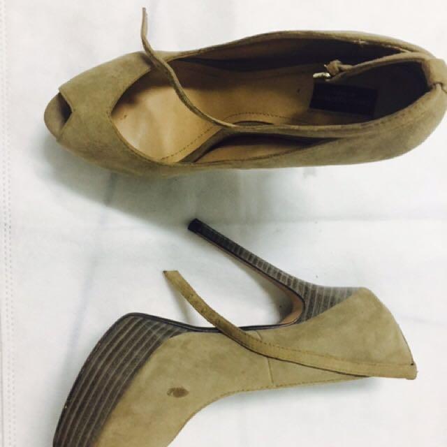 Zara繫帶高跟鞋