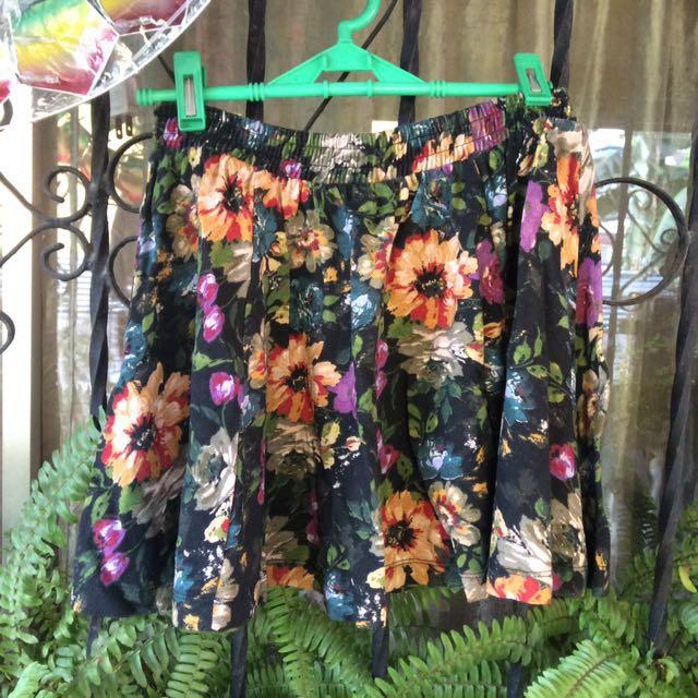 Zara Floral Circle Skirt