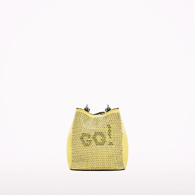 Zara Studded Mini Bucket Bag