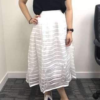 高腰兩層紗裙
