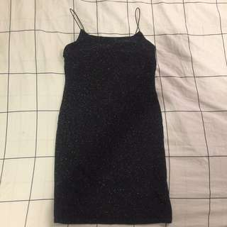 Black slinky glitter dress from H&M