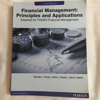 Financial Management: Principle And Applications