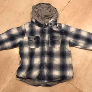 H&M Checkered Shirt with Hoody