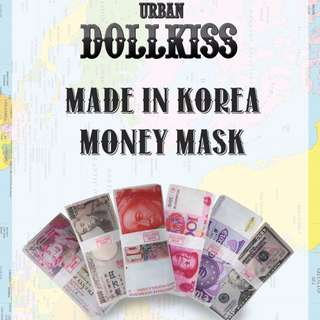 [Urban Dollkiss] Money Mask 20gm | 6 types of Therapy to choose from! | Moisture | Revital and more!