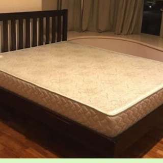 Quality wooden bed frame Inc firm mattress