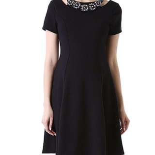 BNWT Little Black Dress with Jeweled neckline